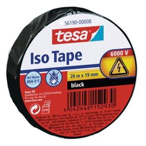 Fita isolante TESA PVC 5619 15mmx10m preto