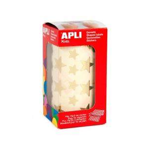 Pack de 2360 etiquetas autocolantes estrela APLI ouro