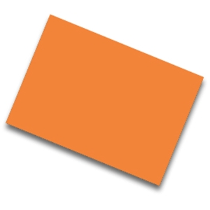 Pack de 25  cartolina FABRISA 50x65 185g/m2  laranja