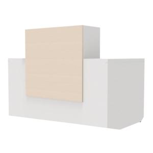 Mesa com mostrador para recepção carvalho/branco