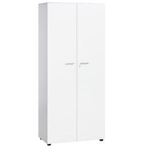 Armário com portas e estantes branco/branco 181 x 40 x 80 cm
