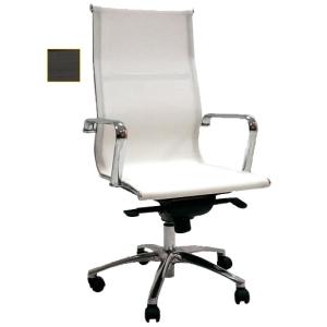 Cadeira de direcção com mecanismo de balanço Jrag de rede preta