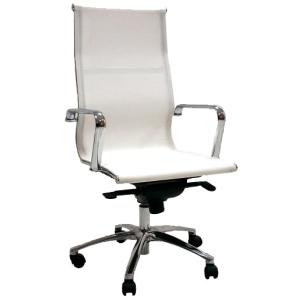 Cadeira de direcção com mecanismo de balanço Jrag de rede branca