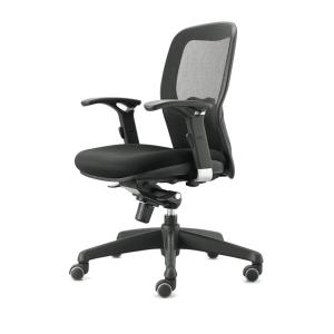 Cadeira com mecanismo sincronizado Bean de rede preta