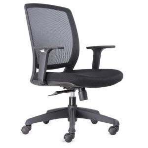 Cadeira com mecanismo de balanço Lunamn de polipropileno com rede preta