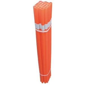 Pack de 25 tubos reflectores JULIO GARCIA polietileno laranja 20mm x 10cm
