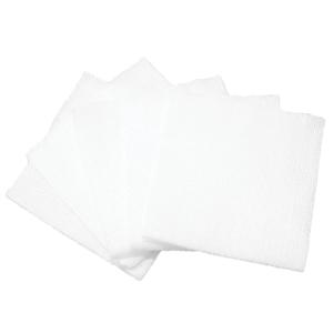 Pacote com 5 compressas de algodón de 75 x 75 mm