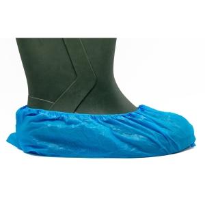 Caixa de 100 cobre sapatos descartáveis BIMEDICA polietileno azul