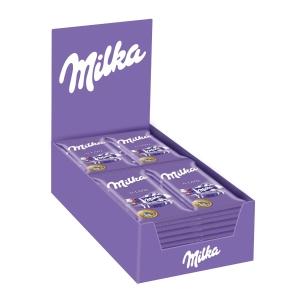 Caixa de 32 chocolates de leite MILKA 35g
