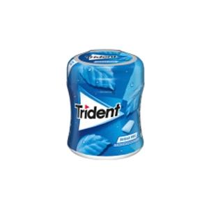 Caixa de 61 pastilhas elásticas em drágeas TRIDENT sem açucar sabor menta