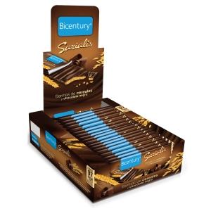Pack de 20 barras de cereais com chocolate preto SERIALIS 20g