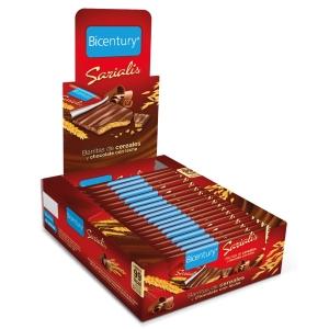 Pack de 20 barras de cereais com chocolate de leite SERIALIS 20g