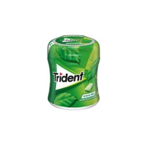 Caixa de 61 pastilhas elásticas drágeas TRIDENT sem açucar sabor hortelã-pimenta