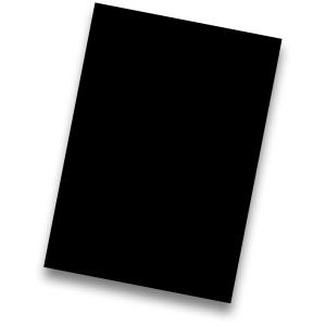Pack de 50 cartolinas FABRISA A4 170g/m2 cor preto