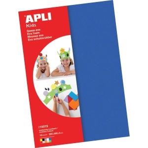 Pack de 10 folhas espuma eva APLI 300x200x2mm cores variados