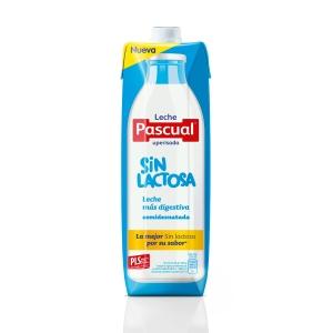 Pack de 6 pacotes de leite magro sem lactose PASCUAL 1L