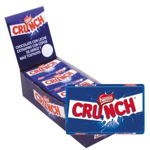 Caixa de 15 tabletes de chocolate de leite e arroz crocante NESTLE CRUNCH 40g