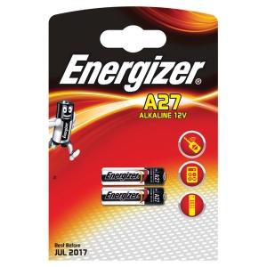 Pack de 2 pilhas alcalinas de botão 12V A27 ENERGIZER