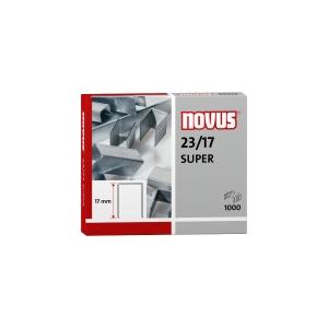 Caixa de 1000 agrafos NOVUS modelo 23/17 galvanizadas