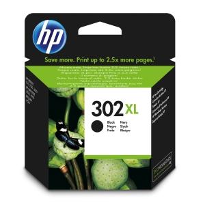 Cartucho de tinta HP 302XL F6U68AE preto
