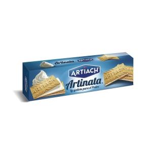 Pack de bolachas ARTIACH Artinata sabor nata 210g