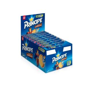 Caixa 20 pacotes de bolachas com chocolate Príncipe - 80 g