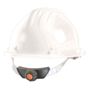 Capacete de segurança com roda CLIMAX 5RG branco não ventilado