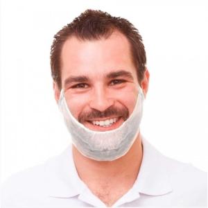 Caixa de 100 tapa-barbas descartáveis OHP polipropileno branco