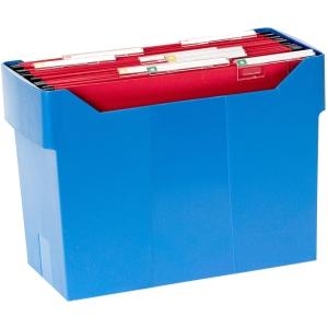 Caixa poliestirenão 20 Pastas de suspensão A4 não incluidas azul ARCHIVO2000