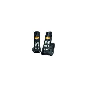 Telefone inalámbrico GIGASET A-220 Duo cor preto