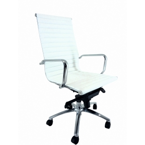 Cadeira alto  com mecanismo basculante tecido nappel branco