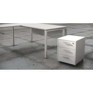 Módulo bilaminado de 3 gavetas en acabado Luxe cor branco 460x550x600 mm