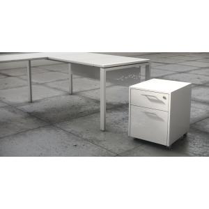 Módulo bilaminado gaveta mais arquivador acabado Luxe cor branco 460x550x600
