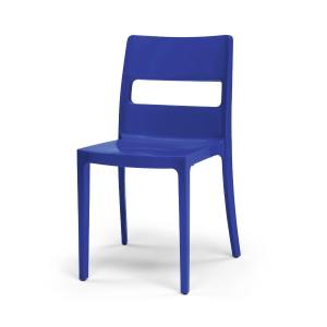 Cadeira Diva apilhável injectada em polipropilemo cor azul