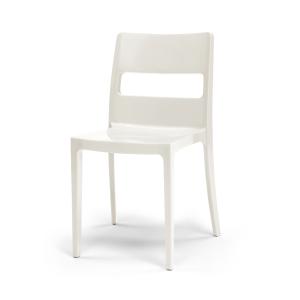 Cadeira Diva apilhável injectada em polipropilemo cor branco