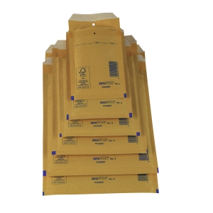 Pack de 100 bolsas com borbulha AROFOL 220x340mm cor kraft nº 16