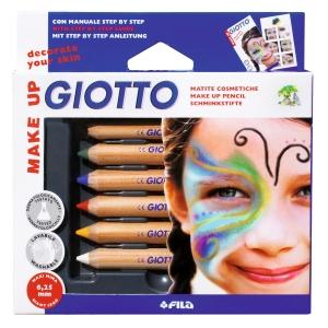 Pack de 6 lápis de maquilhagem GIOTTO cores sortidas