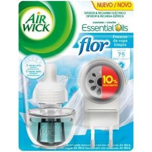 Fragrância fresca de linho FLOR+recarga AIR WICK. Duração até 75 dias