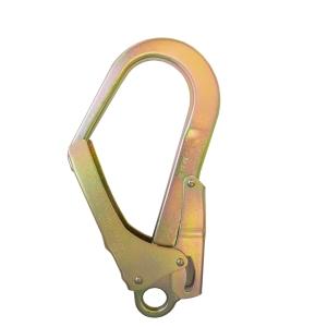 Mosquetão de aço IRUDEK 39 com fecho automático. Resistência estática de 23kN