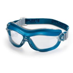 Óculos panorâmicos MARCA 2188-GIX7 A com lente incolor. Ventilação indireta