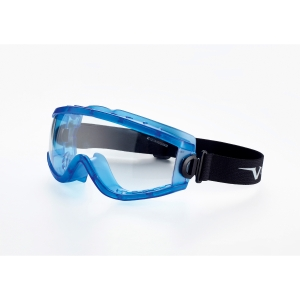 Óculos panorâmicos UNIVET 619.02.01.00 com lente incolor. Ventilação indireta