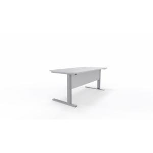 Mesa de login com medidas 160x80x75 cinzento alumínio