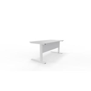 Mesa de login com medidas 160x80x75 cinzento branco