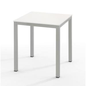Mesa de break com medidas 70x70mm prata branco