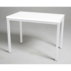 Mesa de break com medidas 110x70mm branco branco