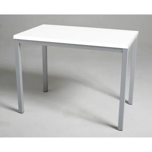 Mesa de break com medidas 110x70mm prata branco