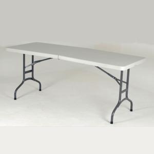Mesa para catering dobrável com medidas 180x75x75cm