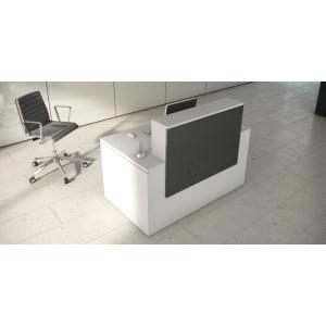 Mostrador de receção luxe antracite branco
