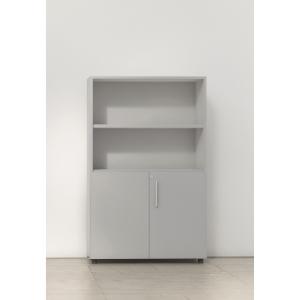 Armário com portas baixas, medidas 143x45x90 cinzento cinzento