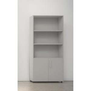 Armário com porta baixa com medidas 195x45x90 cinzento cinzento